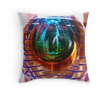 the vase that holds uniqueness Throw Pillow