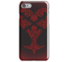 Key blade to my Heartless variant  iPhone Case/Skin