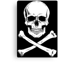 Pirate Jolly Roger with crossbones Canvas Print