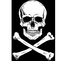 Pirate Jolly Roger with crossbones Photographic Print
