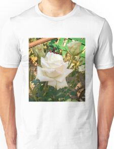 White Rose in the Garden 7 Unisex T-Shirt