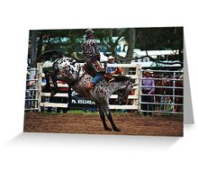 Hold on Cowboy Greeting Card