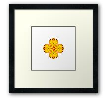 """Spirit of India: Cross-Column - Fleur"" in grass green and yellow Framed Print"