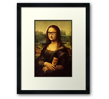 Hipster Lisa Framed Print