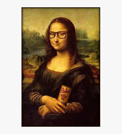 Hipster Lisa Photographic Print