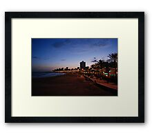 Beach At Dusk Framed Print