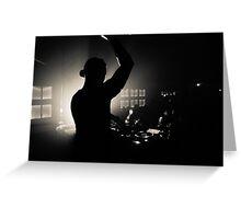 Nightclub Dj Silhouette Greeting Card