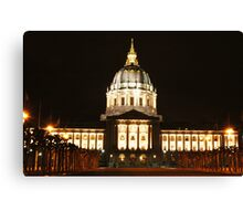 Capitol Building, San Francisco Canvas Print