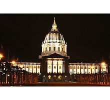 Capitol Building, San Francisco Photographic Print