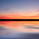 Sunset lake by Hollie Nass