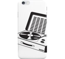 vintage turntable iPhone Case/Skin