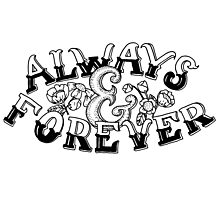 Always & Forever Handlettering Photographic Print