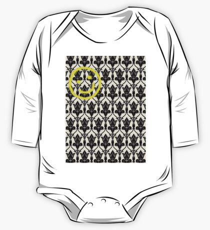 BBC Sherlock 'Bored Smiley Face'  One Piece - Long Sleeve