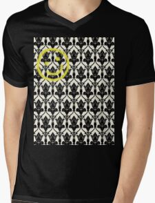 BBC Sherlock 'Bored Smiley Face'  Mens V-Neck T-Shirt