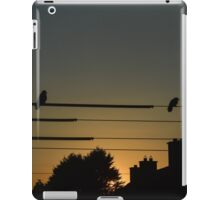 Birds on the wire iPad Case/Skin