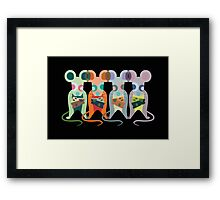 Mischievous Mice Framed Print