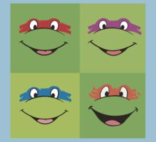TMNT Teenage Mutant Ninja Turtles Leonardo Michaelangelo Donatello Raphael Mikey Green Kids Clothes