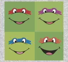TMNT Teenage Mutant Ninja Turtles Leonardo Michaelangelo Donatello Raphael Mikey Green Kids Clothes