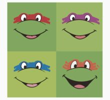TMNT Teenage Mutant Ninja Turtles Leonardo Michaelangelo Donatello Raphael Mikey Green Baby Tee