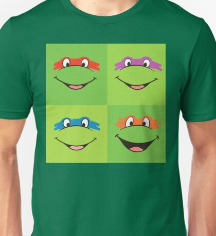 TMNT Teenage Mutant Ninja Turtles Leonardo Michaelangelo Donatello Raphael Mikey Green Unisex T-Shirt