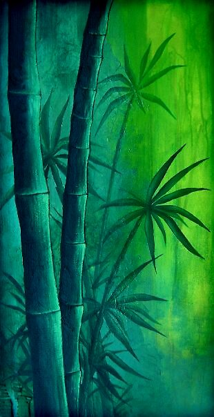 Green Bamboo by RedSparrow