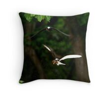 Black Noody leaf collectors Throw Pillow