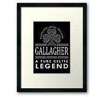 Scotland wales Ireland GALLAGHER a true celtic legend-T-shirts & Hoddies Framed Print