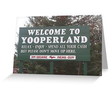 Spend Your Money Then Go Home Greeting Card
