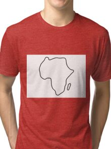 Africa African continent map Tri-blend T-Shirt