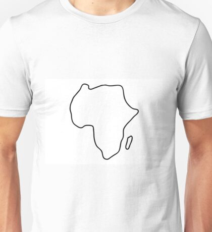 Africa African continent map Unisex T-Shirt