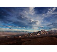 Father Crowley Vista Point. Panamint Range and Panamint Valley. Photographic Print