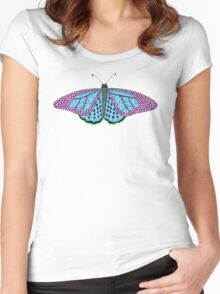 Butterfly – Papillon – Mariposa – Schmetterling Women's Fitted Scoop T-Shirt