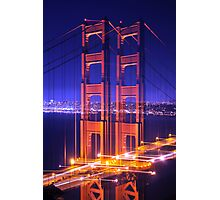 Twin Towers Blue Sky Photographic Print