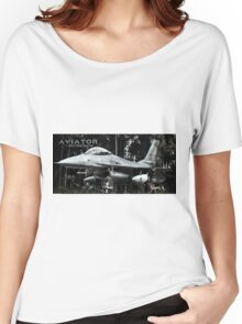 F-16 Fighting Falcon Women's Relaxed Fit T-Shirt