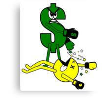 Money KO's Pac Man Canvas Print