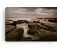 Bar Beach Rock Platform Canvas Print