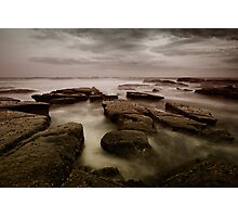 Bar Beach Rock Platform Photographic Print