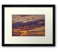 Sunset Sky Framed Print