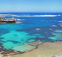 Fishhook Bay Panorama - Rottnest Island - WA by Colin  Williams Photography