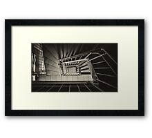 Stairs Spiral Framed Print