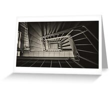 Stairs Spiral Greeting Card