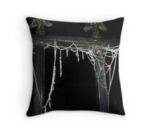 Frosted Webs. Throw Pillow
