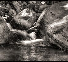 Indian Canyons 08: Andreas Creek Waterfall by Roger Passman
