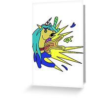 Unicorn smash Greeting Card