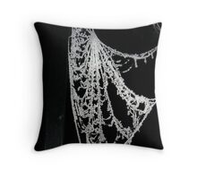 Frosted Webs 2 Throw Pillow