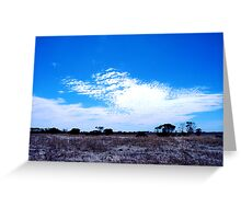 White cloud Blue sky Greeting Card