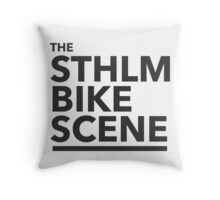 the STHLM BIKE SCENE Throw Pillow