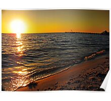 Sunset over Peace River, FL Poster