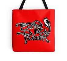 Selfie Freak Design Black and White Script Tote Bag