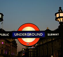 Underground Piccadilly Circus by Bonnie Blanton